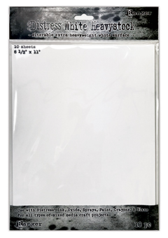 DIST HEAVYSTOCK - WHITE, 8.5 x 11, 10PK