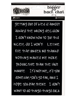 DYLUSIONS-  BIGGER BACK CHAT BLACK SET 2