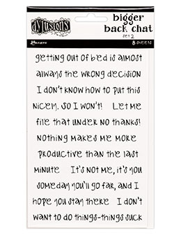 Dyan Reaveley's Dylusions Bigger Back Chat Stickers hvit