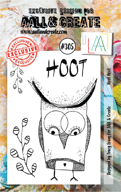 AAll&Create - Hoot hoot- #305- A7 STAMP -