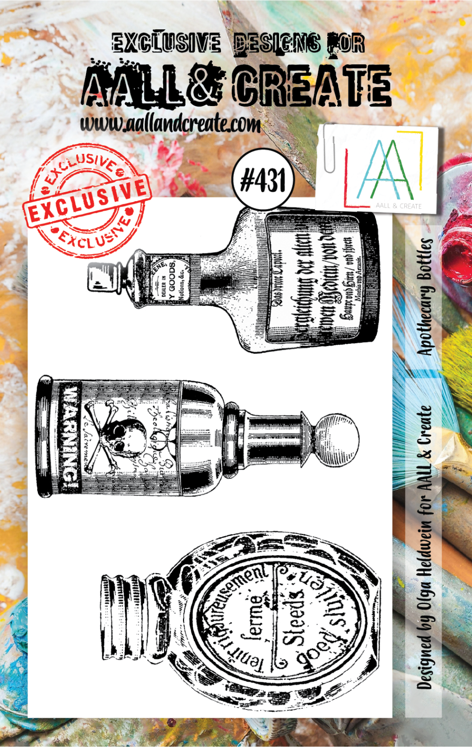 AAll&Create -Apothecary Bottles- #431- A7 STAMP -