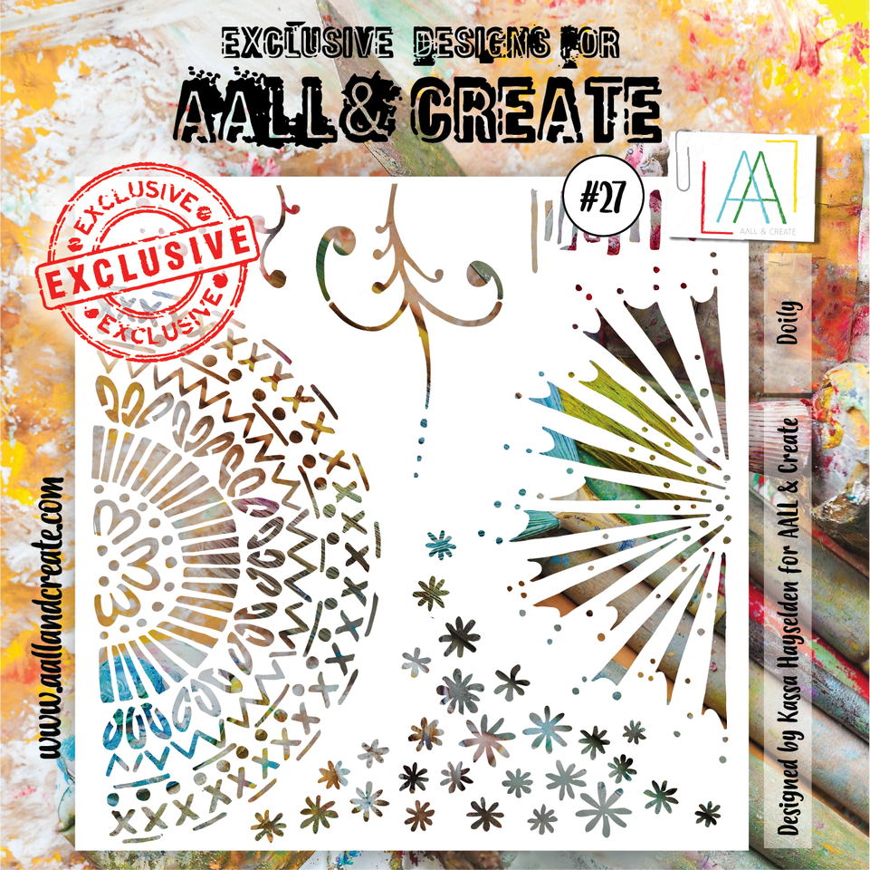 "Aall&Create - 6 x 6 stencil  - Doily ""27"
