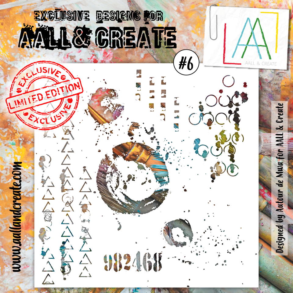 Aall&Create - 6 x 6 stencil  - #6 - Limited edition