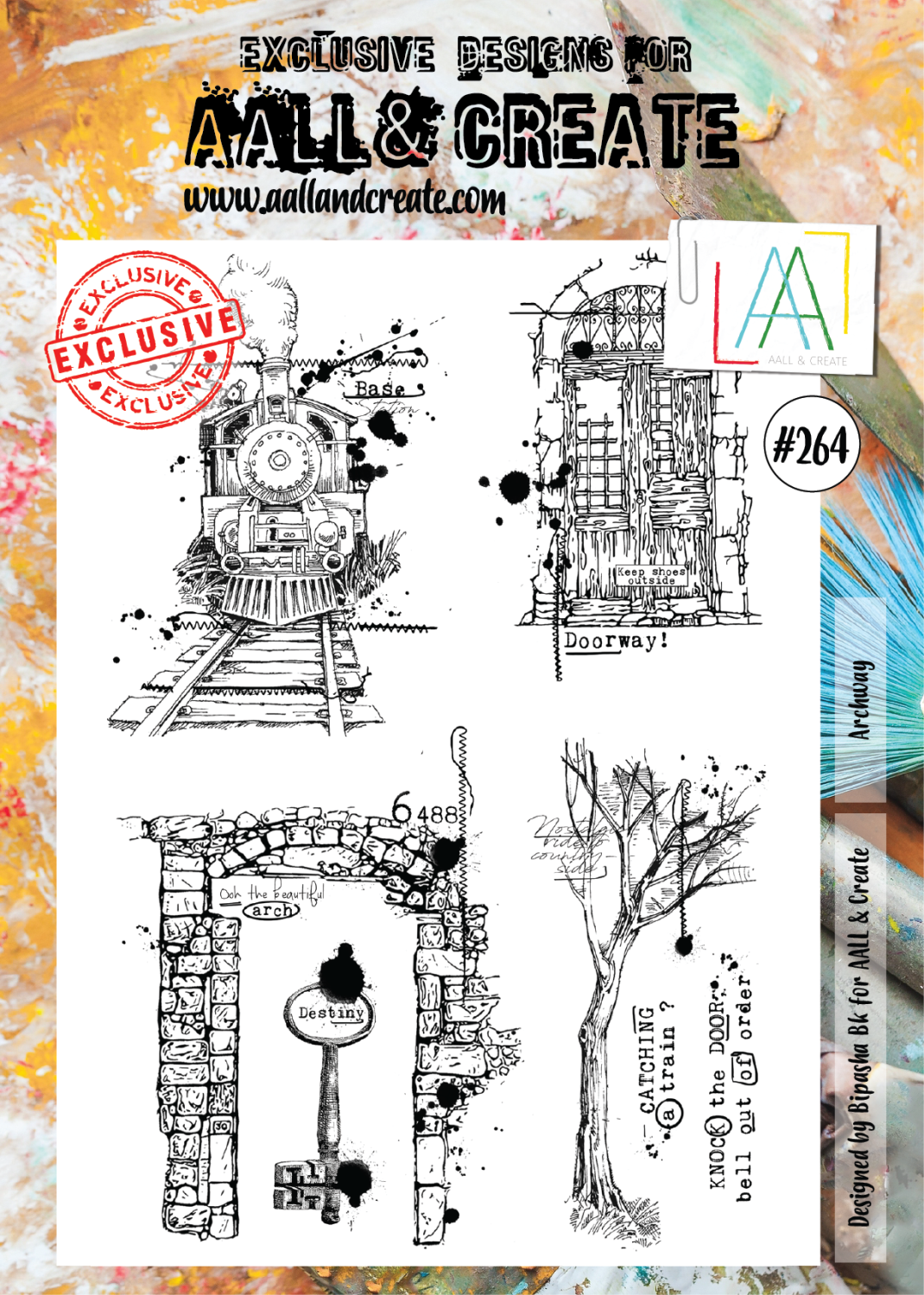 Aall&Create -Steampunk Archway #264 - A4 STAMPS - A4