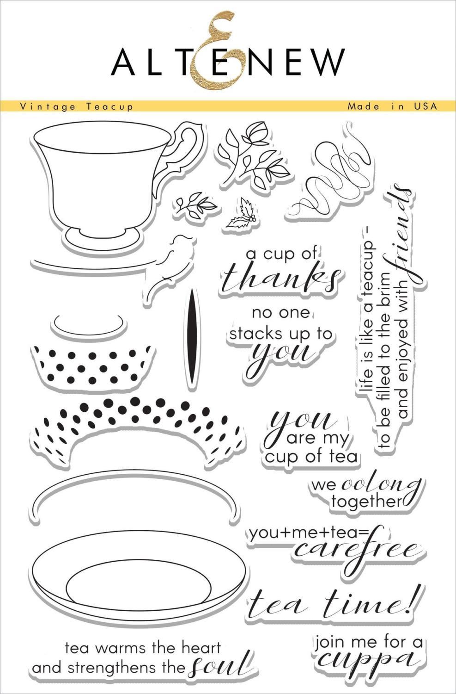 Altenew -Vintage Teacup - stempel og dies