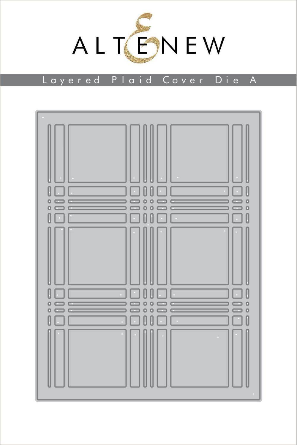 Altenew - Layered Plaid Cover Die A
