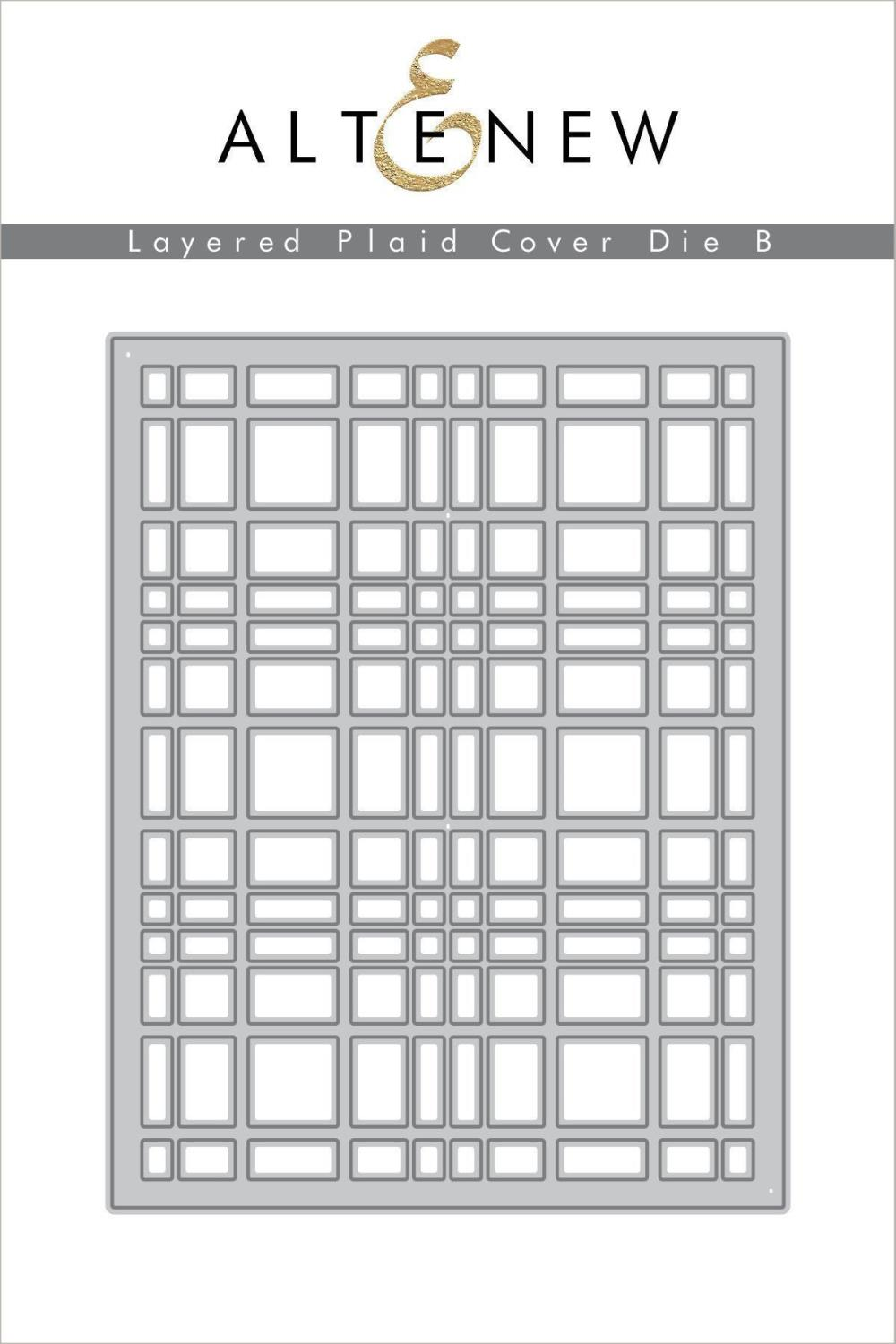 Altenew - Layered Plaid Cover Die B