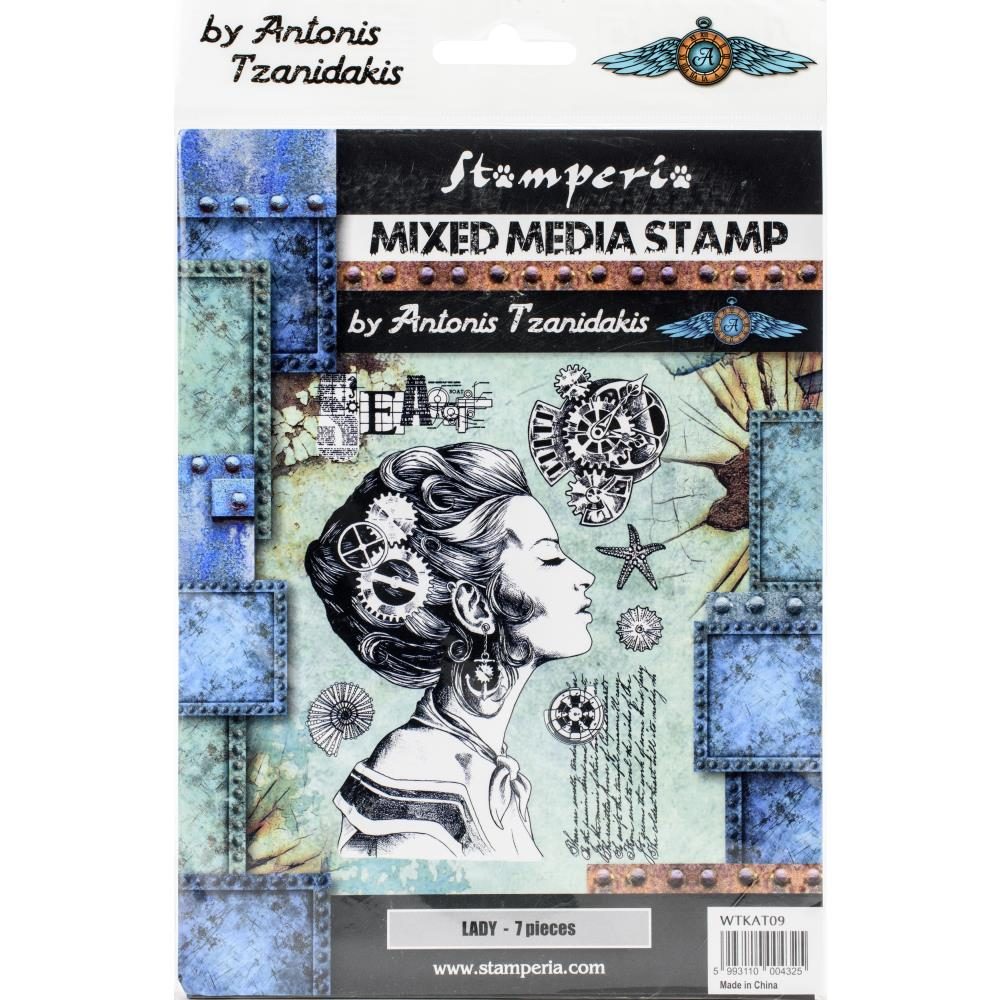 Stamperia  - Lady -  Stempel - Steampunk