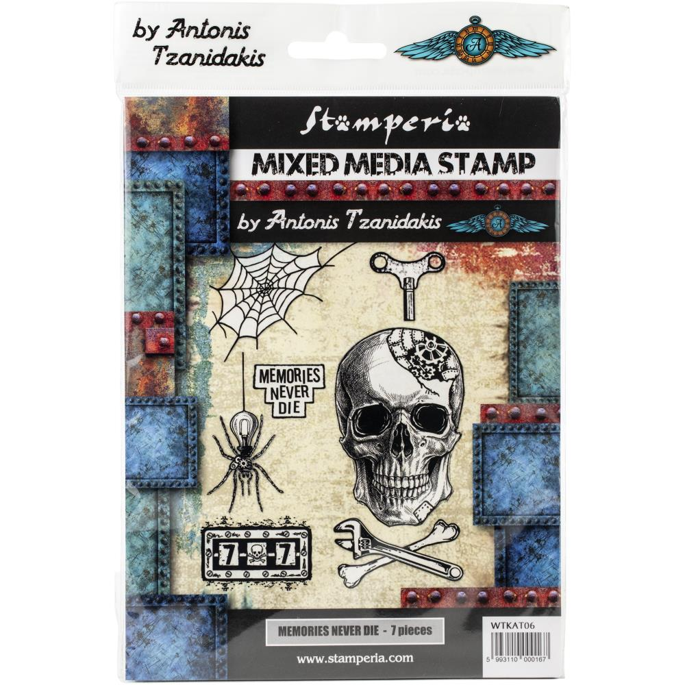 Stamperia  -Memories Never Die  -  cling Stempel -