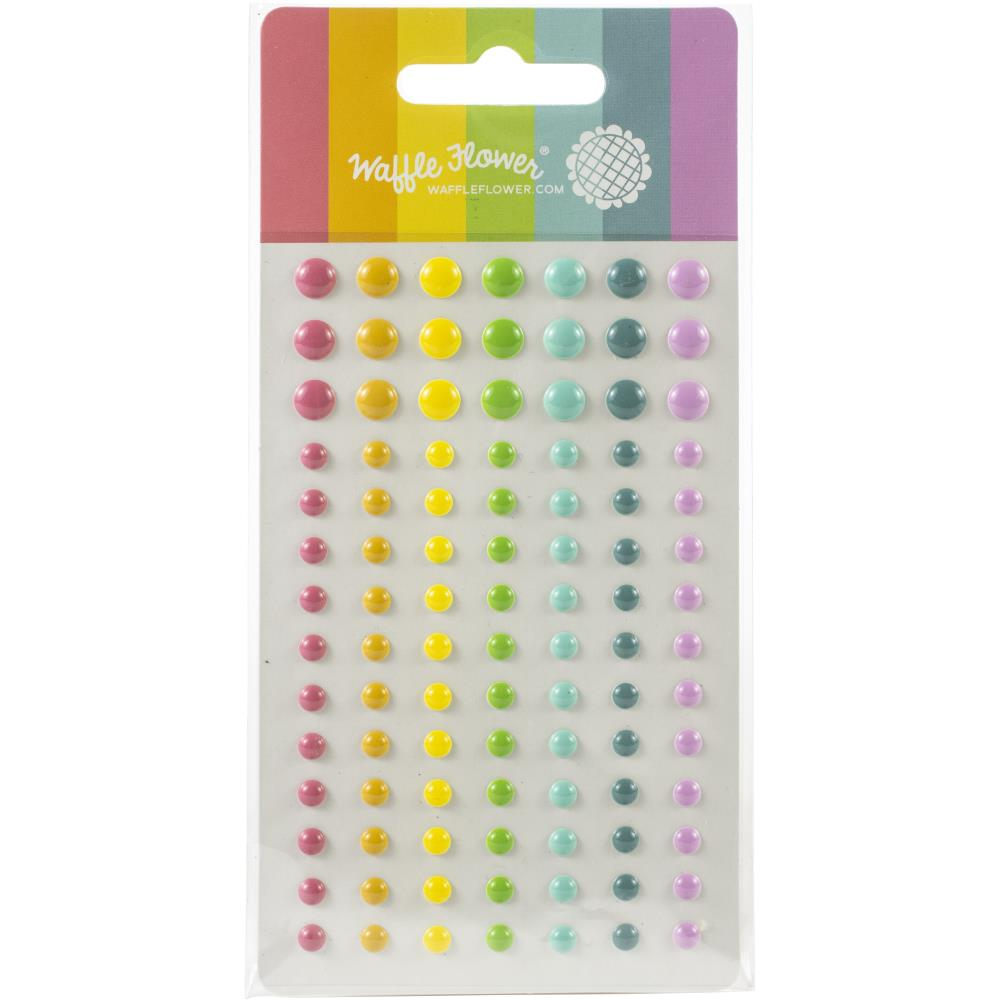 Waffle Flower Crafts Enamel Dots - Up & Running-Multicolor