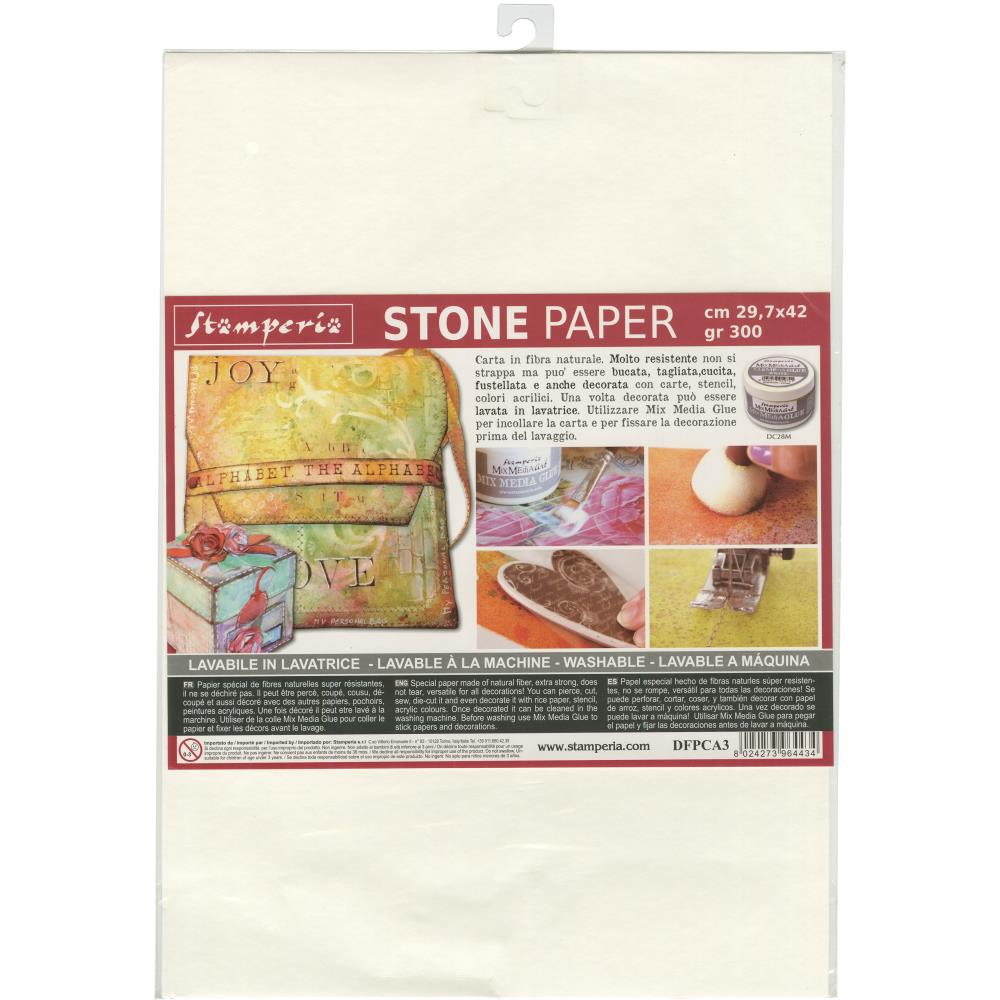"Stamperia Washable Stone Paper 11.6""X16.5"""