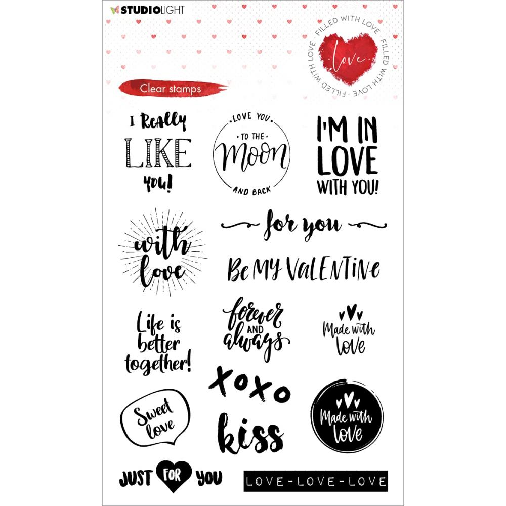 Studio Light Filled With Love Clear Stamps nr 509