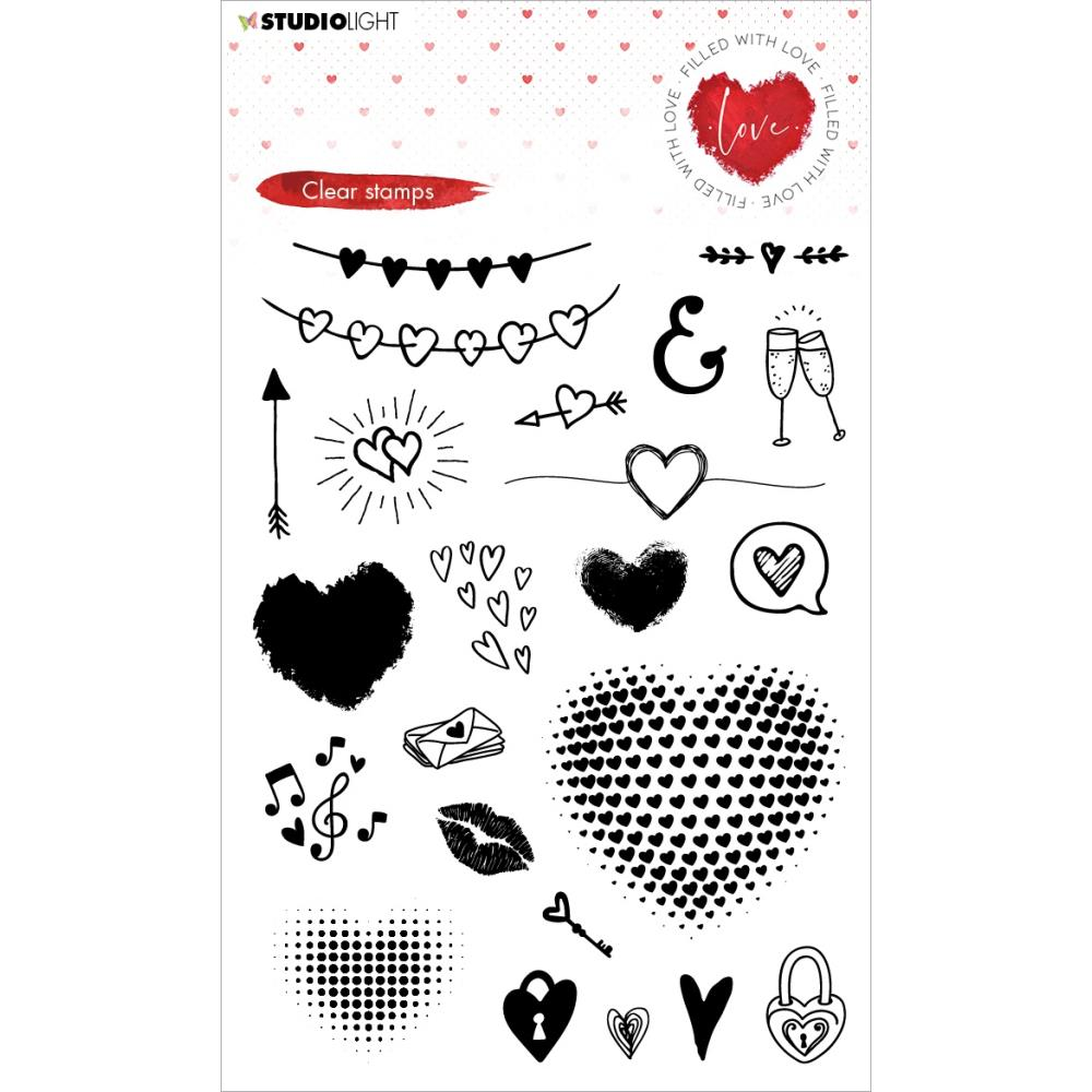 Studio Light Filled With Love Clear Stamps nr 508