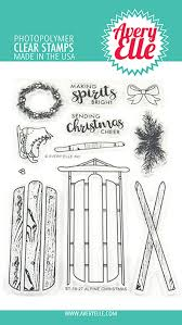 "Avery Elle Clear Stamp Set 4""X6"" - Alpine Christmas"