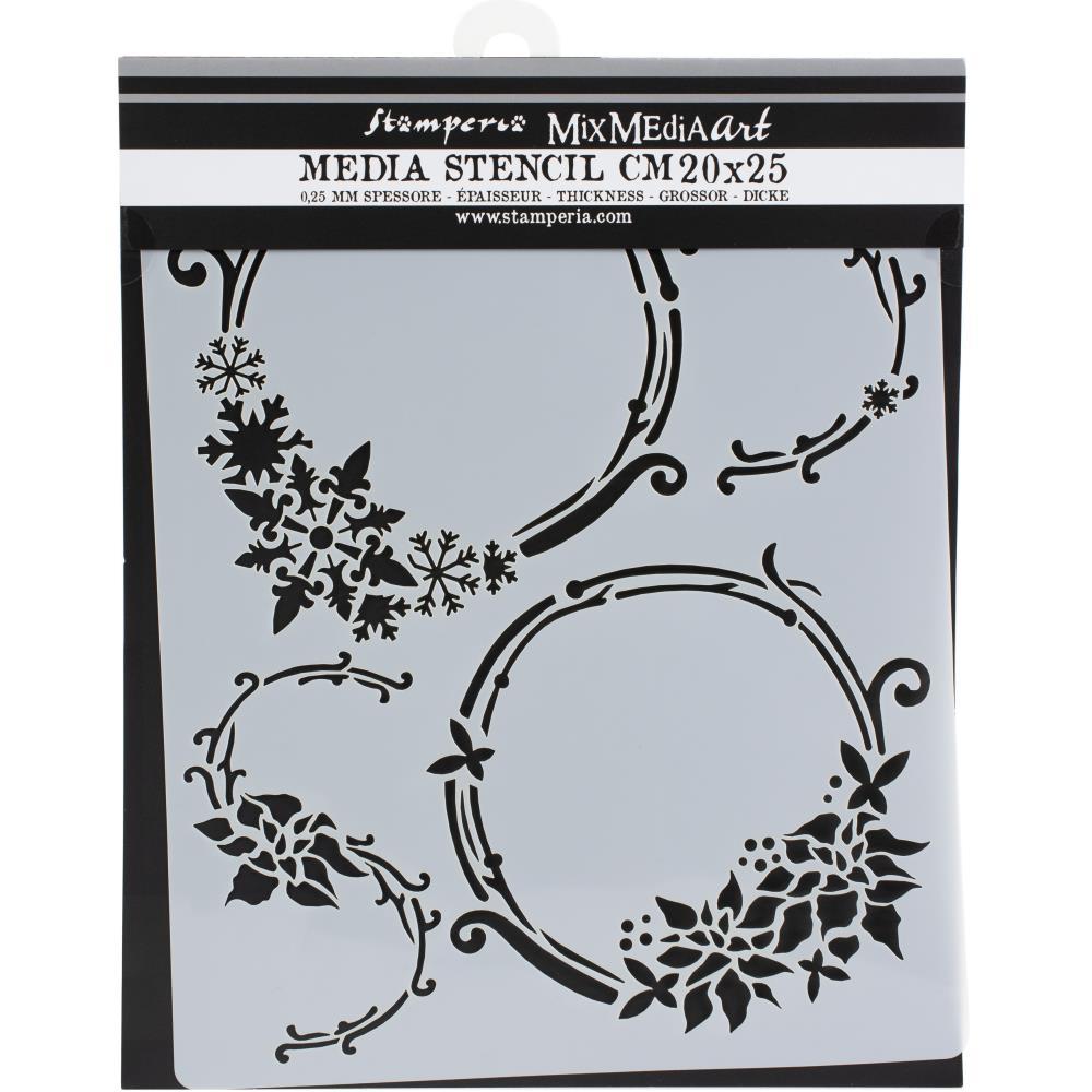 Stamperia Stencil - 25 x 20 cm- Garlands, Winter Tales