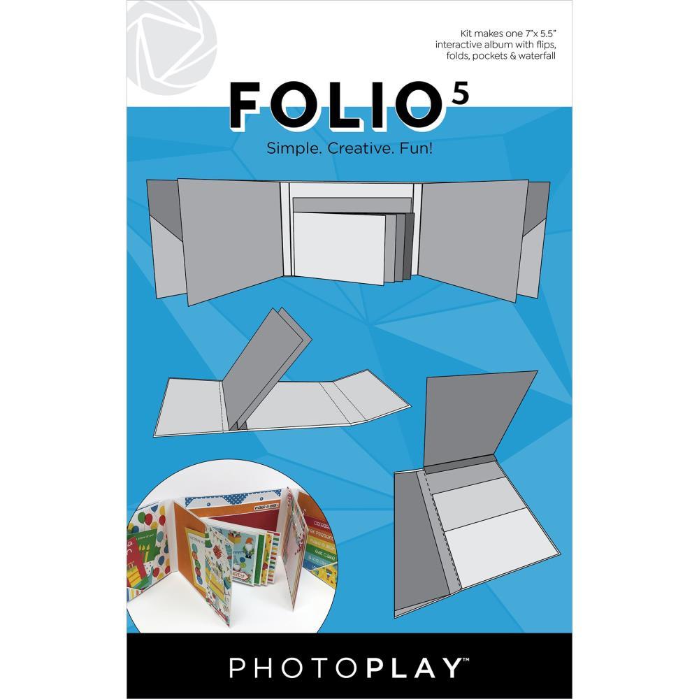 """Photoplay Folio 5 -  5.5""""X7"""" White"""