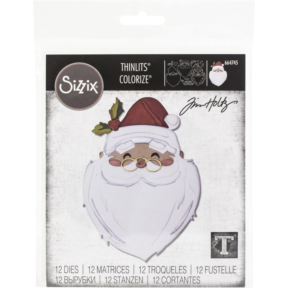 Sizzix Thinlits Dies By Tim Holtz -Santa's Wish Colorize