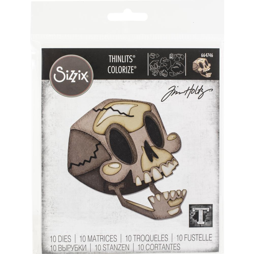 Sizzix Thinlits Dies By Tim Holtz - Skelly Colorize