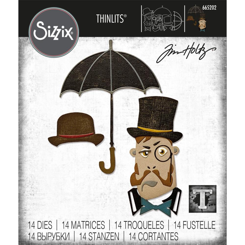 Sizzix Thinlits Dies By Tim Holtz - The Gent