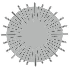 Honey Bee -Radiant Circle Background