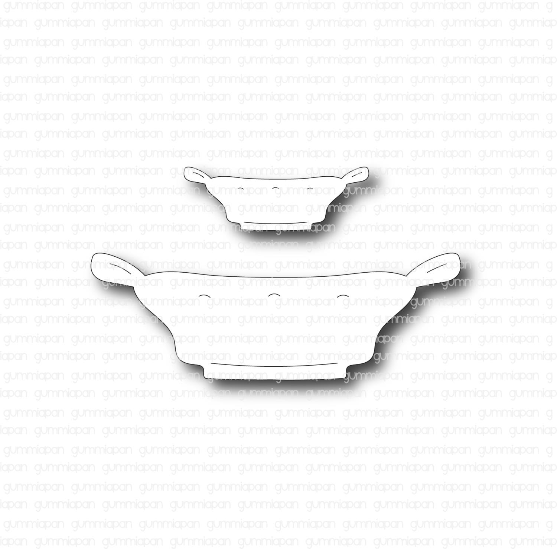 Gummiapan - Låg Kruka - Dies