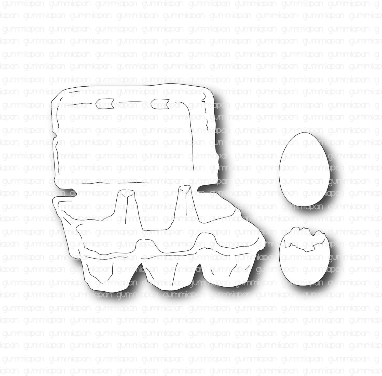 Gummiapan - Egg og Eggkartong - Dies
