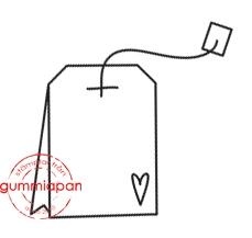 Gummiapan - Liten tepåse-  umontert GummiStempel