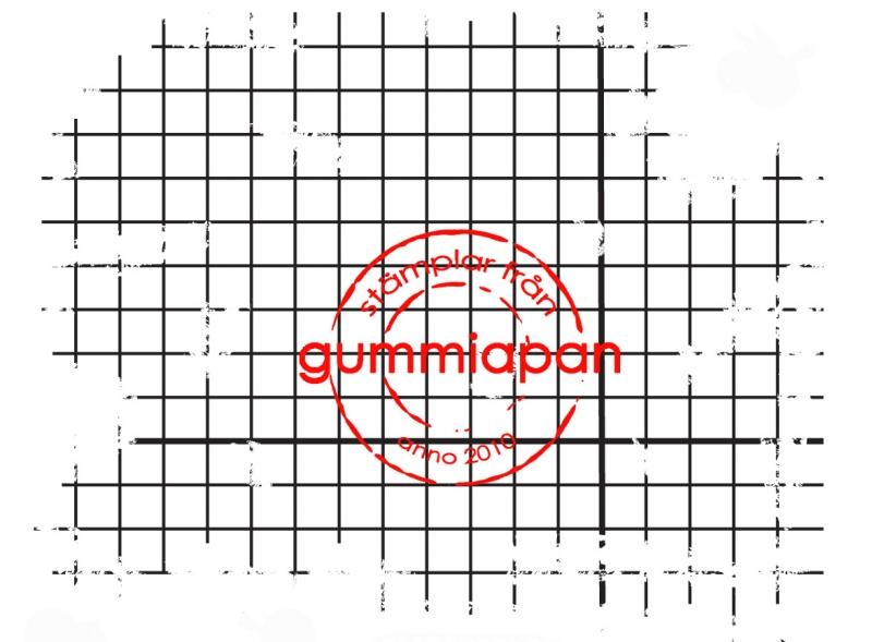 Gummiapan - Sliten rutig bakgrund -  umontert GummiStempel