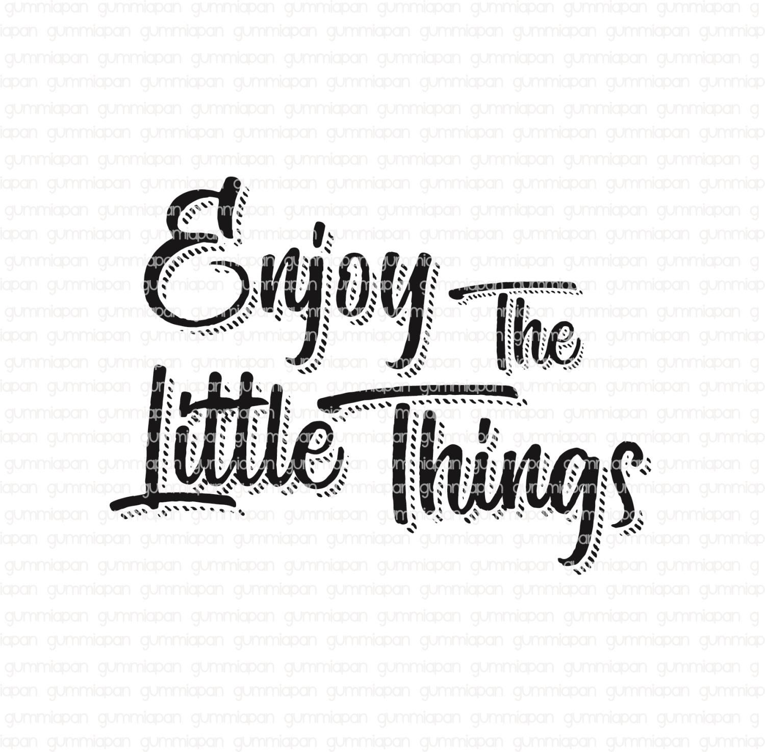 Gummiapan -Enjoy The Little Things -  umontert GummiStempel