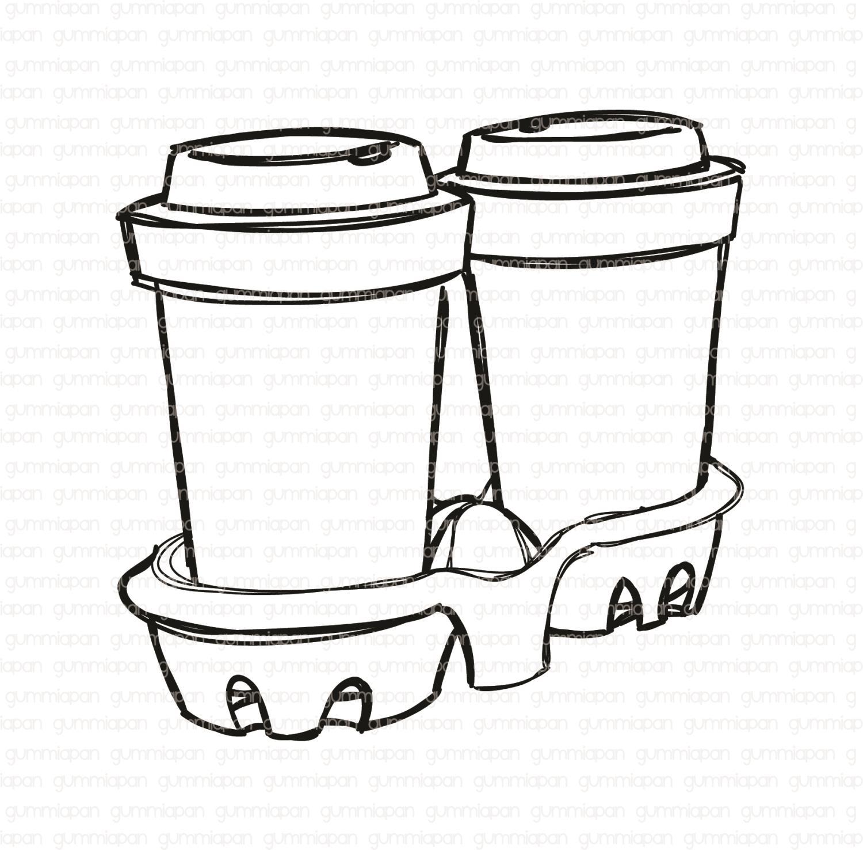 Gummiapan - Coffee to go -  umontert GummiStempel og Dies