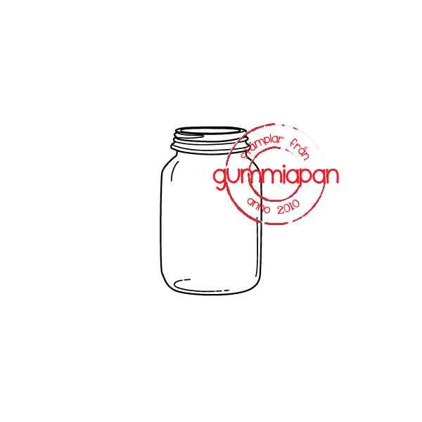 Gummiapan - Glasburk-  umontert GummiStempel og Dies