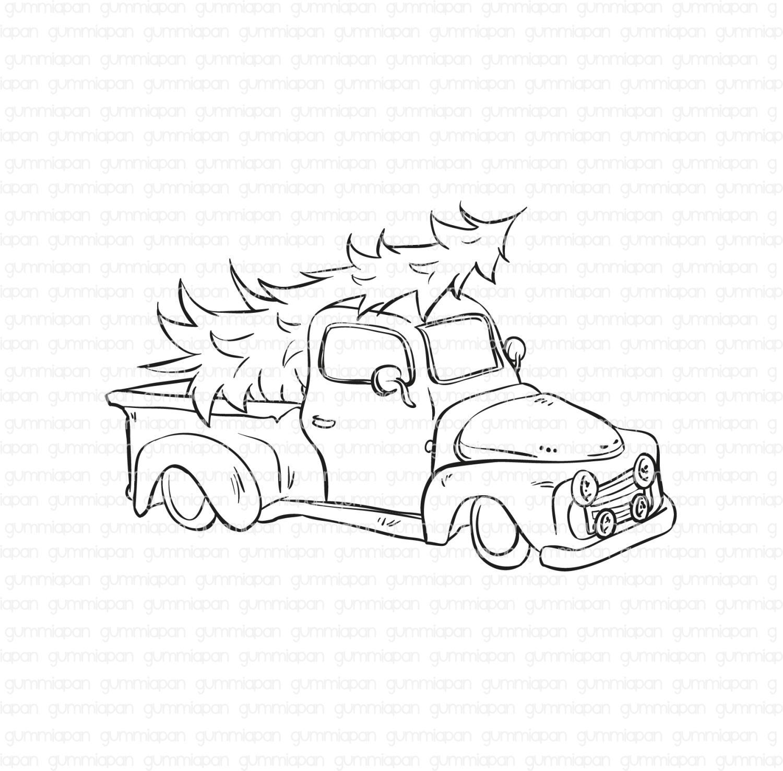 Gummiapan - Pickup-  umontert GummiStempel og Dies