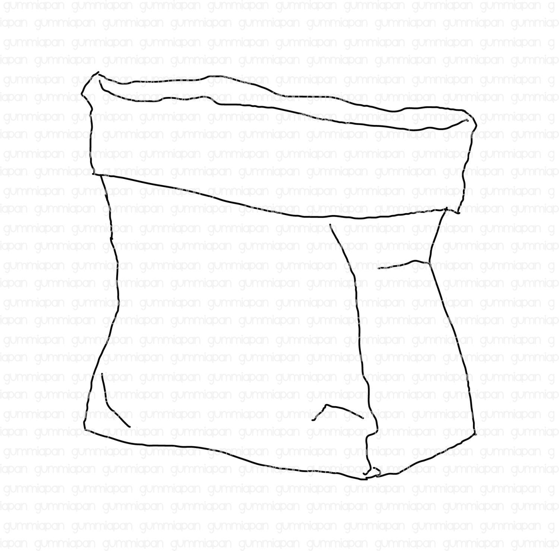 Gummiapan - Papperspåse -  umontert GummiStempel og Dies