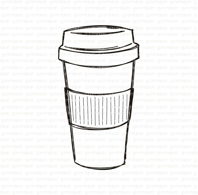 Gummiapan -Kaffemugg  -  umontert GummiStempel og Dies