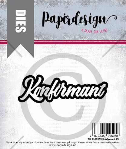Papirdesign -  PD 2100505 Konfirmant 15