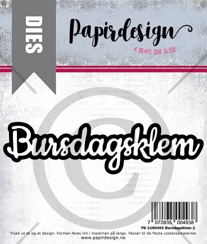 Papirdesign -  Bursdagsklem - PD 2100493