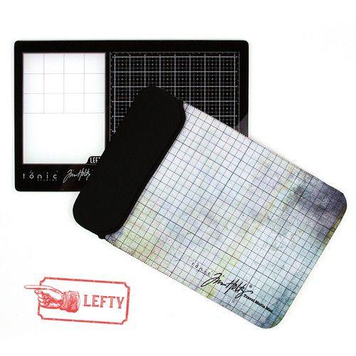 Tonic Studios - Tim Holtz - Left Handed - Travel Glass Media Mat