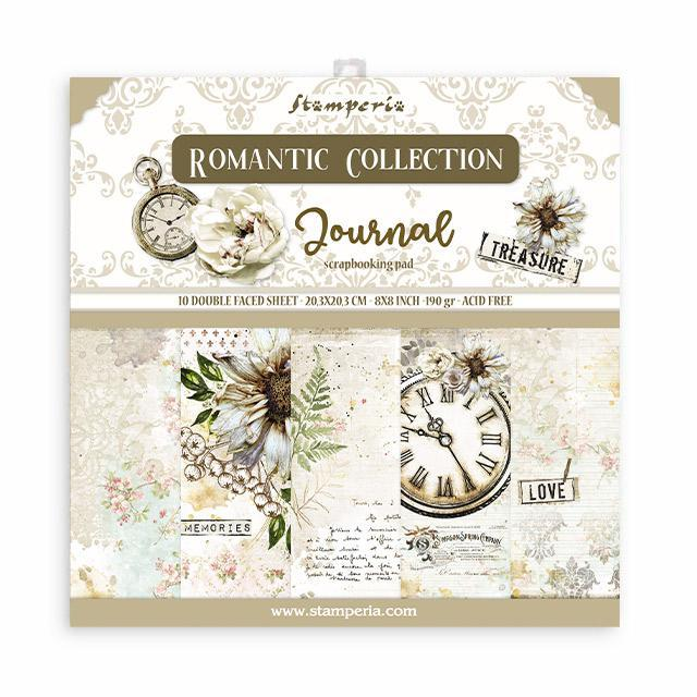 Stamperia - Romantic Journal - Paper Pad 8 x 8""