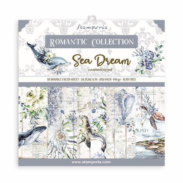 """Stamperia - Sea Dream - Paper Pad 8 x 8"""""""