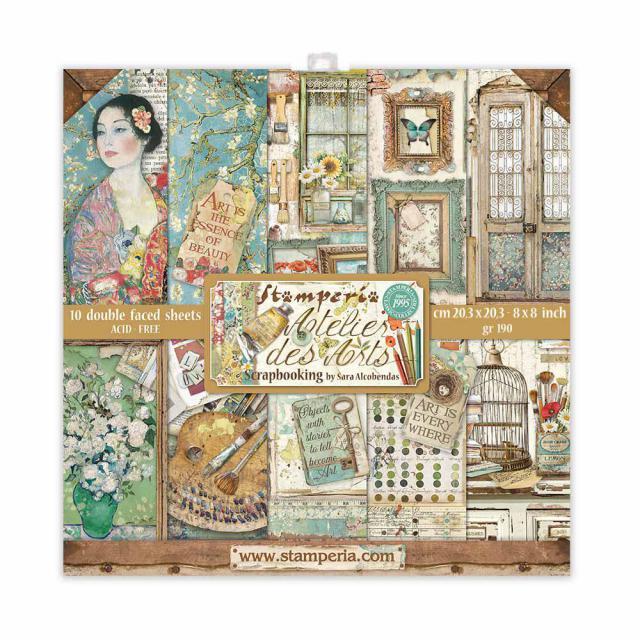 "Stamperia - Atelier des Arts - Paper Pad 8 x 8"""