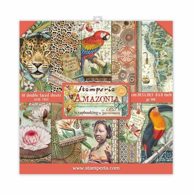 """Stamperia - Amazonia - Paper Pad 8 x 8"""""""