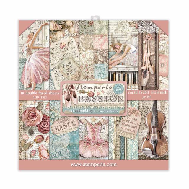 "Stamperia - Passion - Paper Pad 8 x 8"""