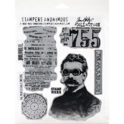 """The Professor 2 - Tim Holtz Cling Stamps 7""""X8.5"""""""
