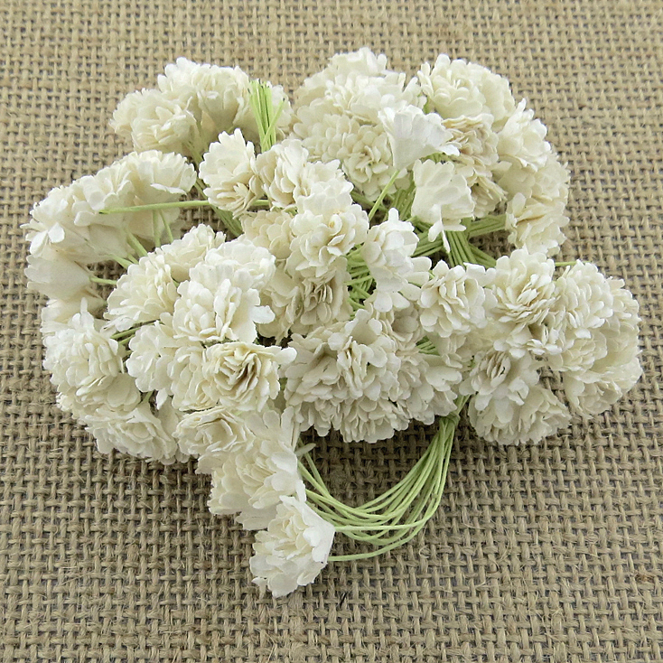 MULBERRY PAPER GYPSOPHILA FLOWERS white