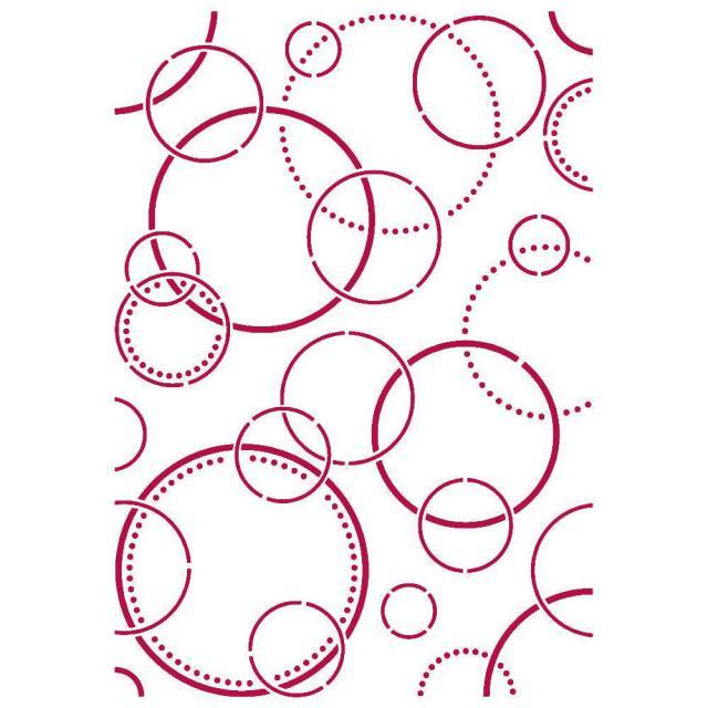 Stamperia- Stencil - Romantic Threads bubbles