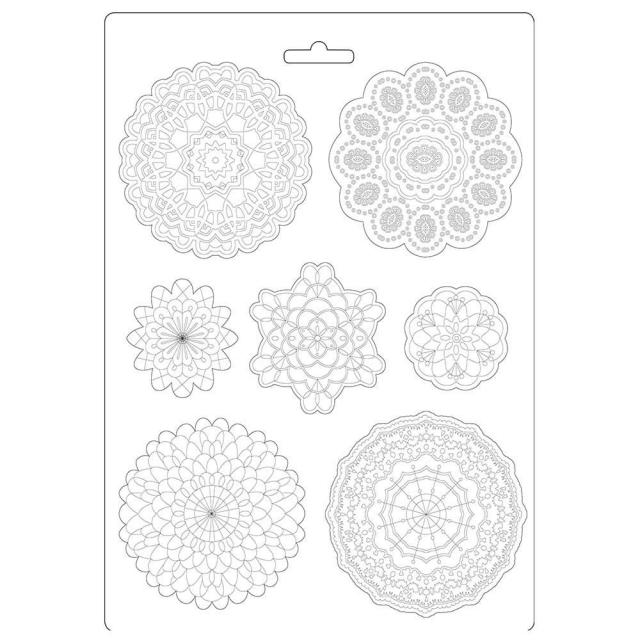 Stamperia- SOFT MOULD A4 SIZE - Passion round lace