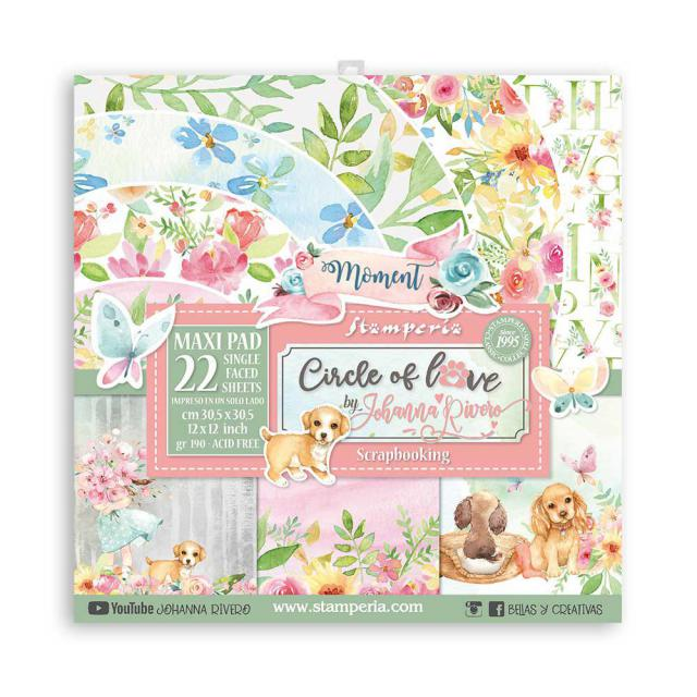 Stamperia - 12x12 Inch Paper Pack - Circle of love