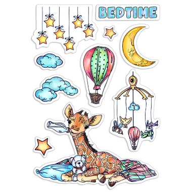 """Ciao Bella - Bedtime - CLEAR STAMP SET 4""""X6"""" -"""