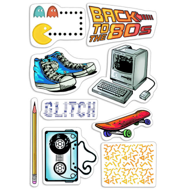 """Ciao Bella - 80s- CLEAR STAMP SET 4""""X6"""" -"""