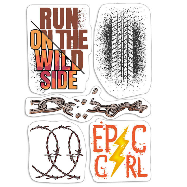 """Ciao Bella - Epic girl- CLEAR STAMP SET 4""""X6"""" -"""